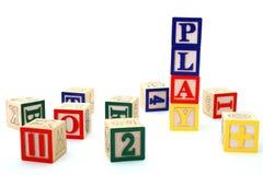 Blocs d'alphabet Photo libre de droits