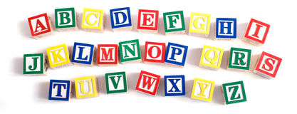Blocs d'alphabet Images libres de droits