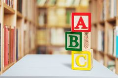 Blocs d'alphabet Photo stock