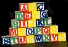 Blocs d'alphabet d'A-Z image stock