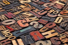 Blocs d'impression antiques d'impression typographique Photo stock
