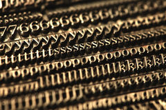 Blocs d'impression typographique Photographie stock