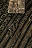 Blocs d'impression typographique Photos stock