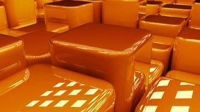 Blocs 3D oranges Photos libres de droits