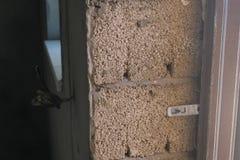 Blocs de béton de mousse dans la maison construite Construction de Chambre image libre de droits