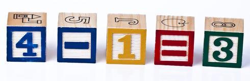 Blocs de calcul de maths d'enfants Image libre de droits