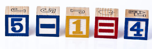 Blocs de calculs de maths d'enfants Image libre de droits