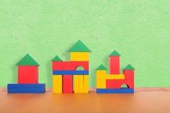 Blocs de couleur sur le plancher Photographie stock