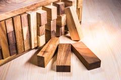 Blocs de fond en bois Photographie stock libre de droits