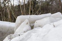 Blocs de glace images stock