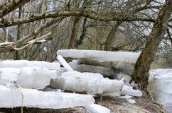 Blocs de glace Image stock