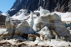 Blocs de glace et lac ice Photographie stock libre de droits