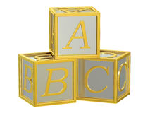 Blocs de jouet, cubes en ABC Photo stock