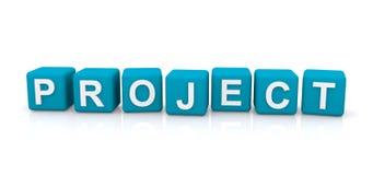 Blocs de lettre de projet Images stock