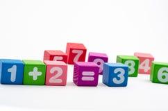Blocs de maths Image libre de droits