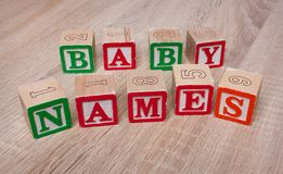 Blocs de noms de bébé photo libre de droits