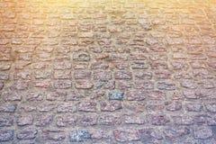 Blocs de pierre, vue d'angle toned Photos libres de droits