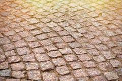 Blocs de pierre, vue d'angle toned Photographie stock