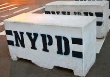 Blocs de police de béton photos stock