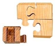 Blocs de puzzle mécanique tridimensionnel Photo libre de droits