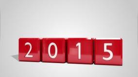 Blocs de rouge changeant à partir de 2014 à 2015 illustration libre de droits