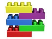blocs du lego 3D Images libres de droits