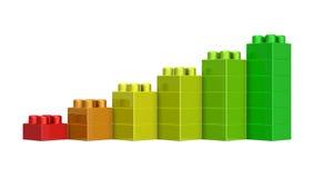 blocs du lego 3D Photographie stock libre de droits