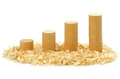 Blocs en bois Photo libre de droits