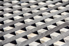 Blocs en bois alignés Image libre de droits