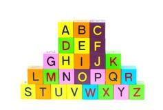 Blocs en bois avec des lettres Image libre de droits