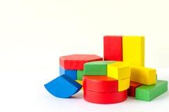 Blocs en bois colorés Photo stock