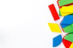 Blocs en bois colorés Photos libres de droits