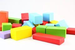 Blocs en bois colorés Image stock