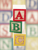 Blocs en bois d'alphabet Photographie stock libre de droits