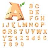 Blocs en bois d'alphabet Photo stock