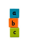 Blocs en bois d'alphabet d'ABC Photo libre de droits