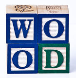Blocs en bois d'enfants Image stock