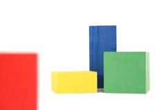 Blocs en bois de jouet Photographie stock