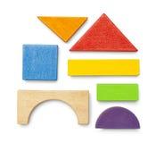 Blocs en bois de jouet Photos stock