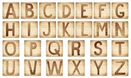 Blocs en bois de lettres d'alphabet illustration stock