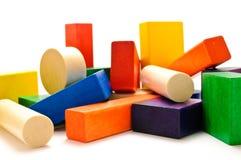 Blocs en bois empilés Photographie stock libre de droits