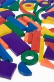 Blocs en plastique, figures géométriques photo libre de droits