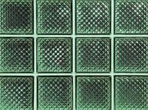 Blocs en verre verts brillants Photo stock