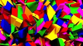 Blocs et fond colorés de morceaux, illustration 3d Images libres de droits
