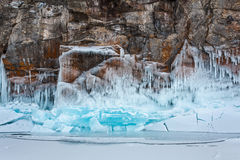 Blocs et roche de glace Images stock