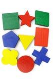 Blocs géométriques colorés Images libres de droits