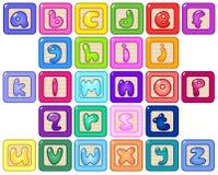 Blocs minuscules d'alphabet illustration libre de droits