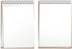 Blocs-notes de papier blanc Images stock