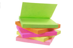 Blocs-notes de post-it Image libre de droits