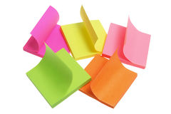 Blocs-notes de post-it Photos stock